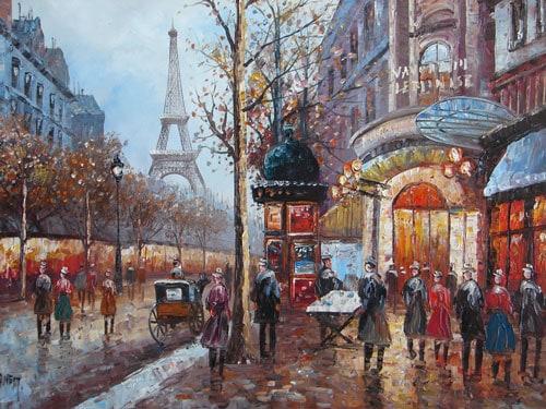 Картина из Парижа