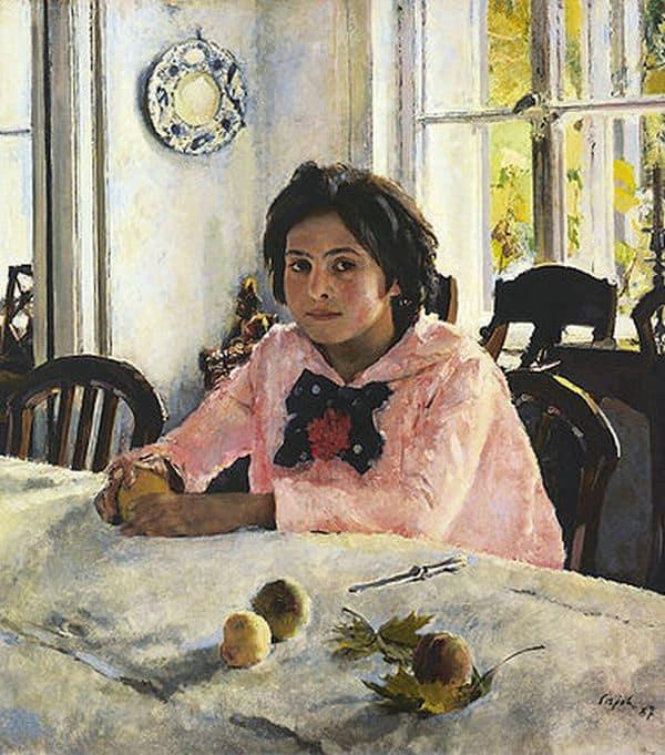 «Девочка с персиками» В. Серова