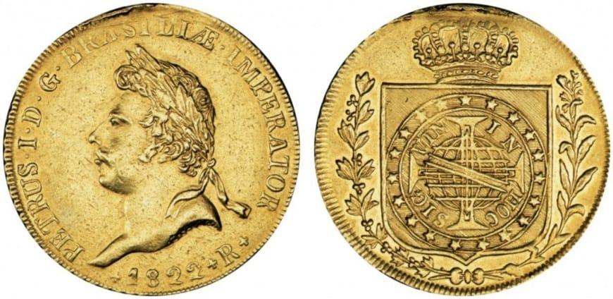 10 - монета Педру I