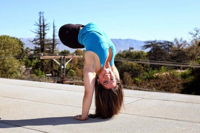Чемпионка по гимнастике без ног
