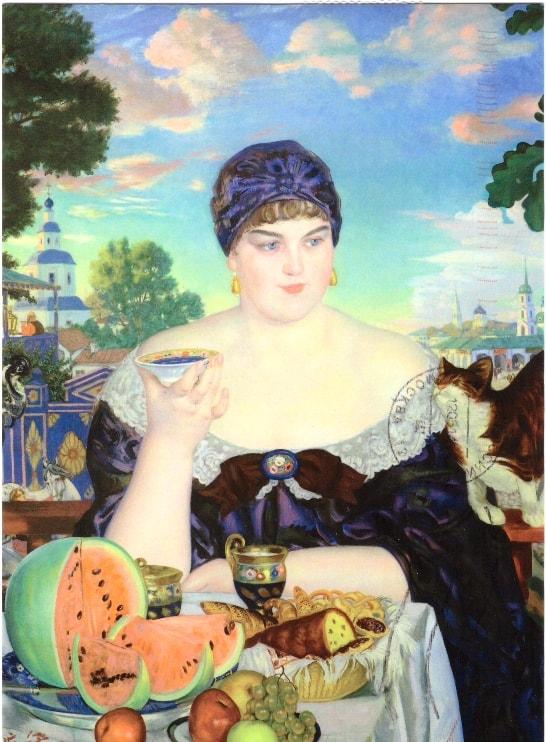 «Купчиха за чаем» Б. Кустодиева