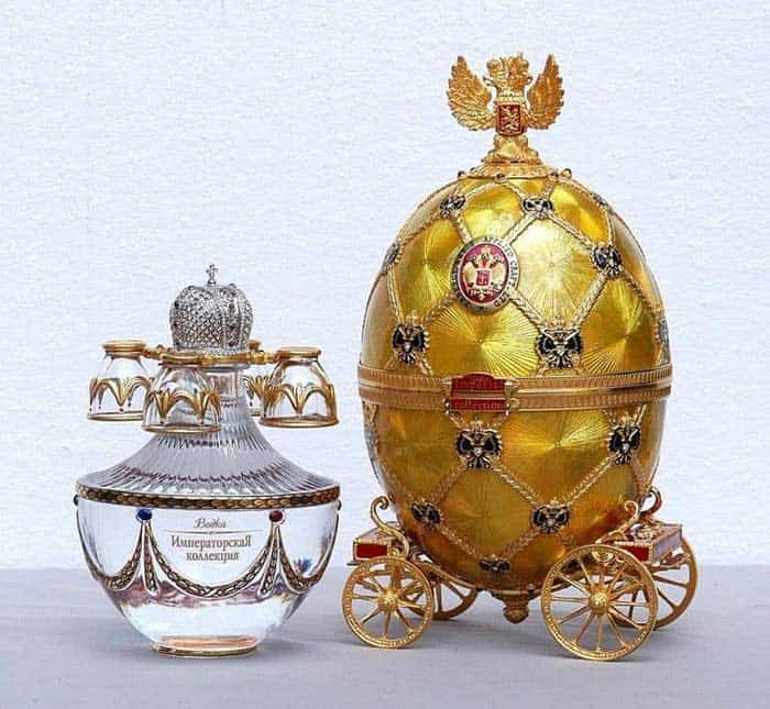 Imperial collection vodka faberge egg