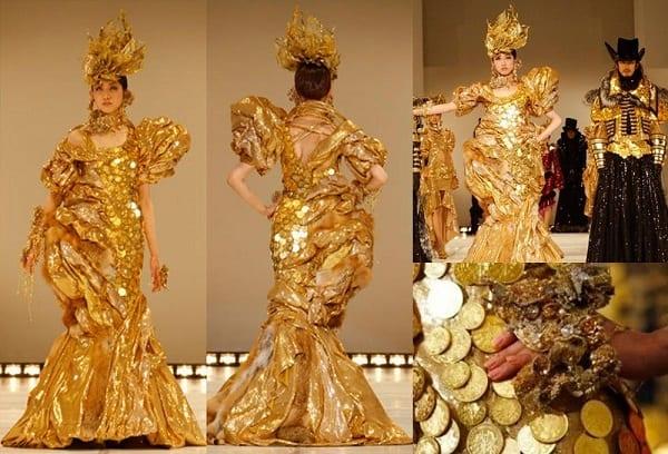 Платье из золота Гинза Танака